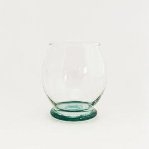 Verre à eau en verre recyclé soufflé couleur vert - verre Beldi