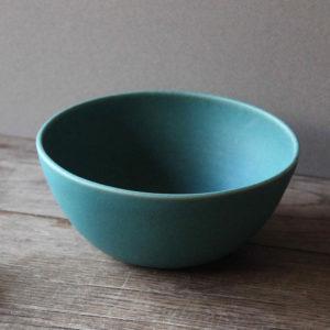 Grand bol en grès émaillé bleu turquoise -Marta Dervin