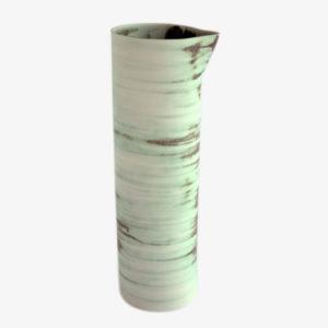 Grande carafe en grès émail Celadon cuivre clair - Ulrike Weiss