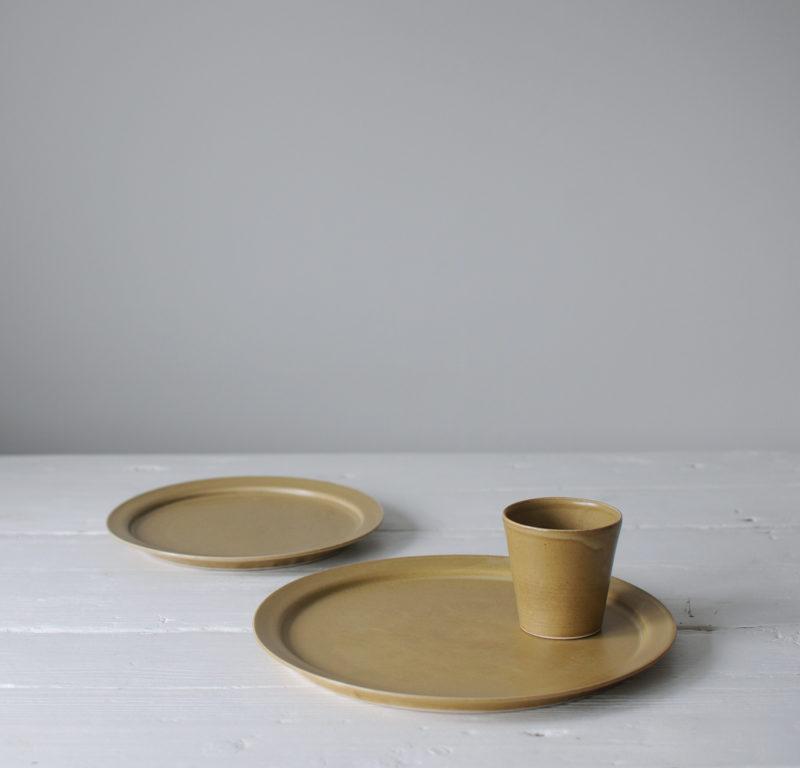 céramique vaisselle japonaise assiette jaune Makiko Hastings