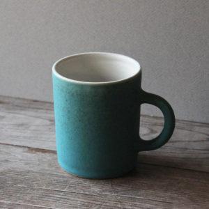 Mug en grès émaillé bleu turquoise -Marta Dervin
