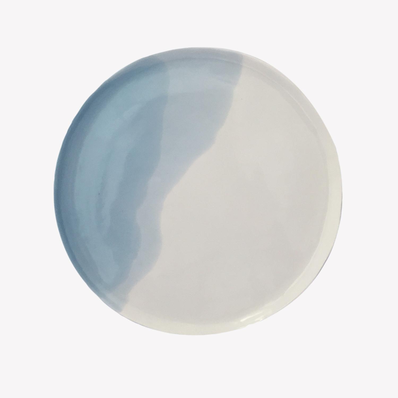 nous paris, grande assiette plate en porcelaine, olivia pellerin