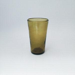 nous paris, grand verre à jus en verre soufflé jaune, salaheddin