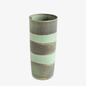 Vase en grès émail Celadon cuivre clair - Ulrike Weiss