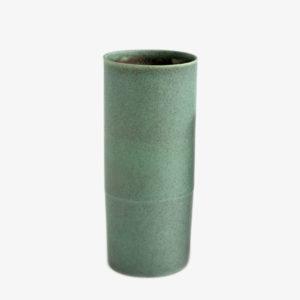Vase en grès émail Celadon cuivre foncé - Ulrike Weiss