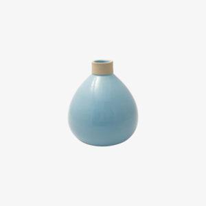 Les Guimards, vase boule en grès bleu ciel, nous Paris