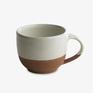 mug tasse gobelet blanc vaisselle Nkuku terracotta
