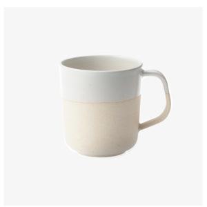 Mug en argile émaillé blanc fait main au japon - Living Talk
