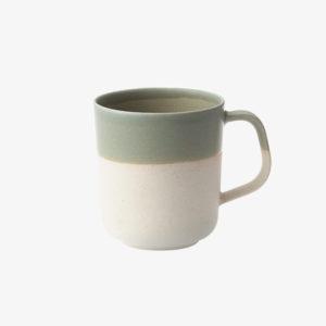 Mug en argile émaillé vert fait main au japon - Living Talk