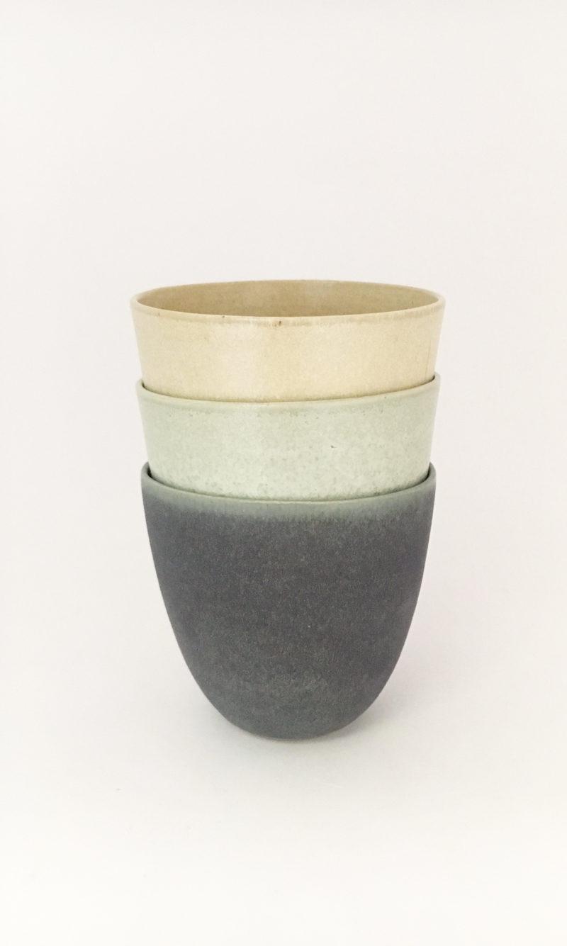gobelet tasse verre céramique grès Cécile Preziosa