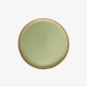 assiette vaisselle céramique artisan vert Laurette Broll