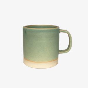 grand mug en grès tasse gobelet céramique vert thé Laurette Broll