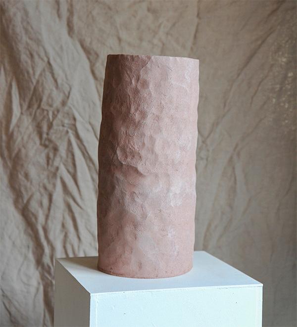 Vase cylindre rose céramique maison Mathilde martin