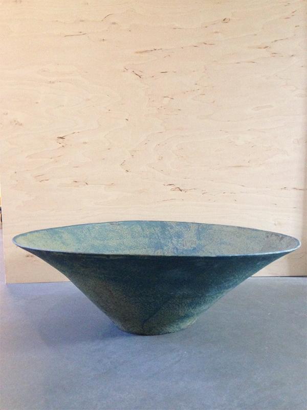 Corbeille Coupe Saladier Bleu Lindha Ouhbi céramique