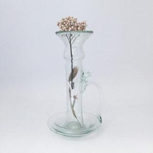 nous paris, vase bougeoir en verre soufflé, la soufflerie