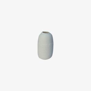 nous paris, petit vase soliflore en porcelaine carreaux, Kaolin'e