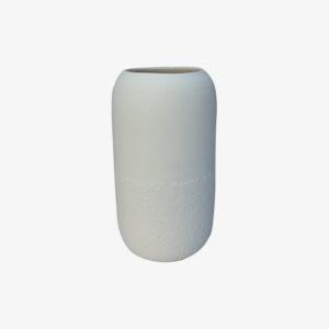 nous paris, grand vase en porcelaine décor tulipe blanc, Kaolin'e