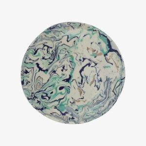 nous paris, grand plat rond en terre mêlée celadon, Pascale Mestre