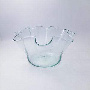 nous paris, vase foulard en verre soufflé transparent, la soufflerie