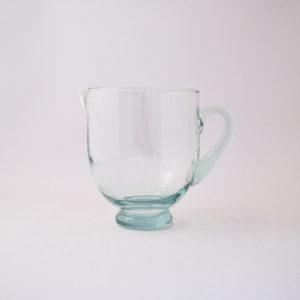 nous Paris, le verre Beldi, carafe ronde avec anse, transparente