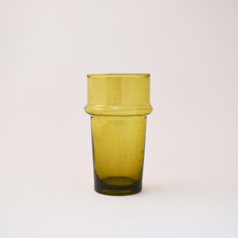 nous Paris, verre à relief soufflé jaune, le verre Beldi