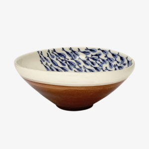 Ceramique Lembesis sifnos Grand bol en faience bleu peint a la main