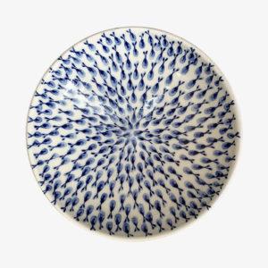 Ceramique Lembesis sifnos petit saladier en faience bleu peint a la main