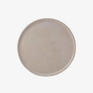 nous paris, grande assiette plate en grès émaillé beige brillant laurette broll