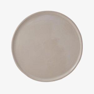 nous paris, grande assiette en grès émaillé beige brillant, laurette broll