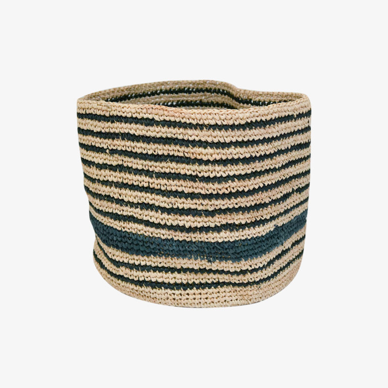Domoina-Moyen-panier-crochet-raphia-rayures-marine-noir-v1