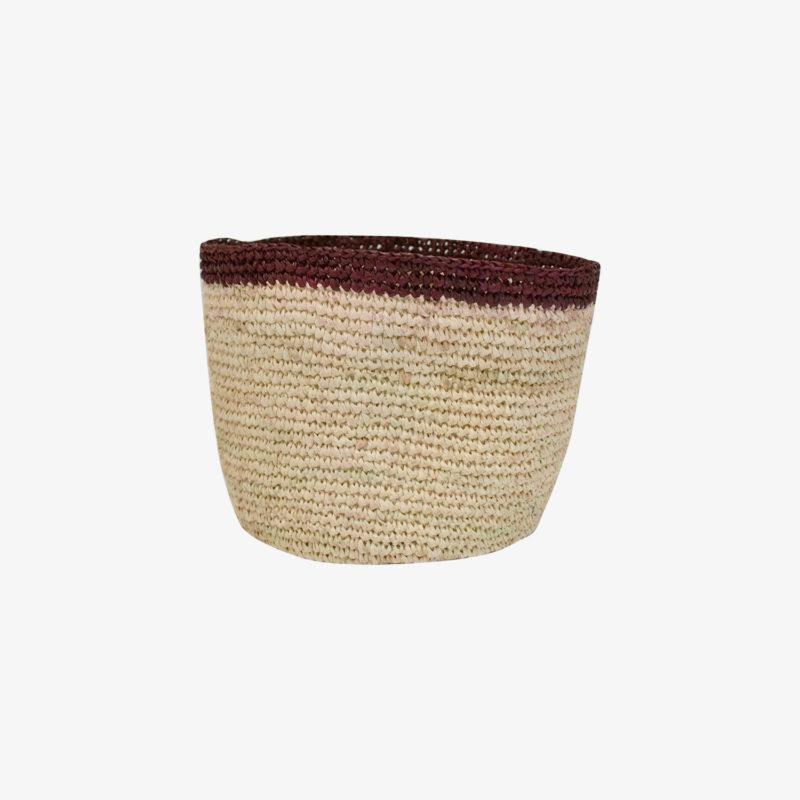 Domoina-Petit-panier-crochet-raphia-haut-bordeaux-v1
