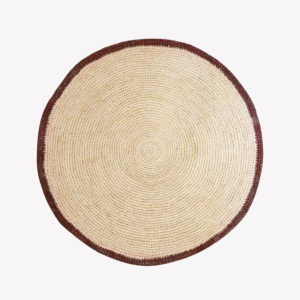 nous paris, set de table rond en raphia naturel bordeaux, domoina