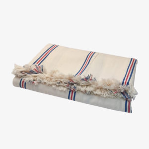 nous paris, nappe à rayures fines en coton ines de la fressange, tensira