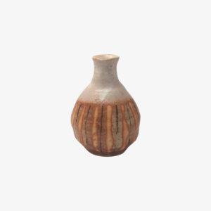 nous paris, petite bouteille en terre de shigaraki orange, ogawa