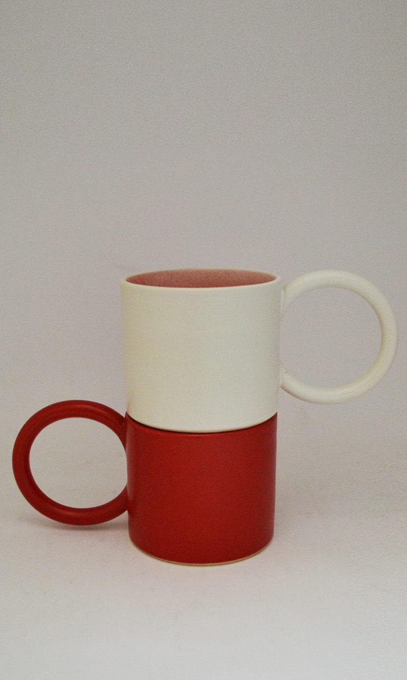 nous paris, grand mug avec anse ronde en grès émaillé, i&you ceramics