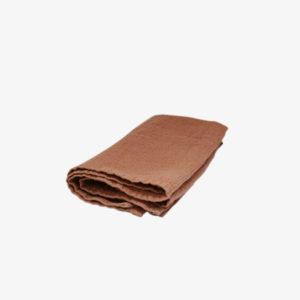 nous paris, set de deux serviettes en lin moka, linge particulier