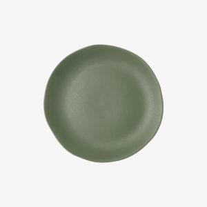 nous paris, petite assiette en grès émaillé vert kaki, jars