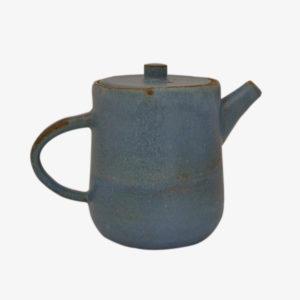 nous paris, grande théière en grès émaillé bleu, hannah blacksmith