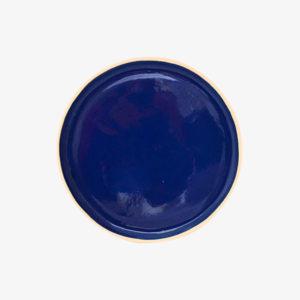 nous paris, petite assiette plate en grès émaillé bleu de sèvres, laurette broll