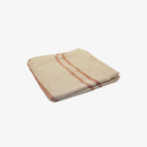 nous paris, serviette de table en coton écru à rayures, tensira