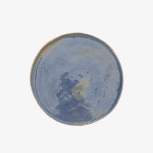 nous paris margot lhomme assiette plate en gres bleu