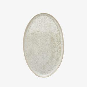 plat oval en gres blanc margot lhomme