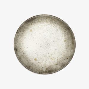 nous paris, petite assiette blanche brute en terre du Fuilet Benoit Audureau