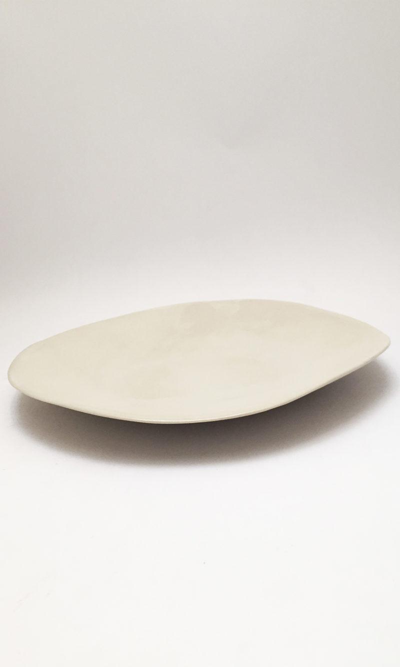 nous paris grande assiette blanc crème Amandine Richard