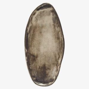 nous Paris plat oval en grès brun Amandine Richard