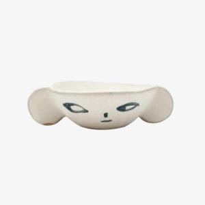nous paris, petit bol a oreilles en gres visage madoka rindal, ceramique contemporaine