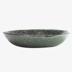 nous paris Gaëlle Le Doledec grande assiette creuse vert jade