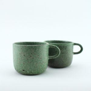 nous paris Gaëlle Le Doledec petit mug grès vert jade