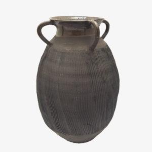 nous paris Hannah Blacksmith grande amphore vase en gres noir