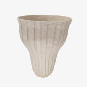 nous Paris Lucile Boudier Vase strié grès beige